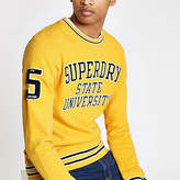 Superdry Yellow tipped crew neck jumper