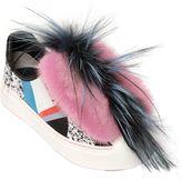 Fendi Fflynn Fox, Mink & Leather Sneakers