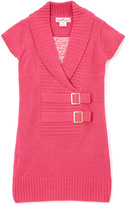 Pink Angel Fuchsia Double-Buckle Sweater Dress - Infant Toddler & Girls