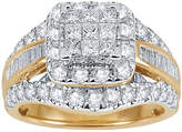 JCPenney MODERN BRIDE 2 CT. T.W. Diamond 14K Yellow Gold Multi-Top Ring