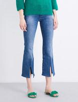 MiH Jeans Marrakesh split-hem flared high-rise jeans