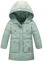 SS&CC Girls' Winter Hooded Long Down Coat Jacket