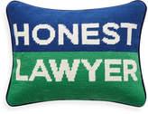 Jonathan Adler UK Needlepoint Personality Pillow - Honest Lawyer