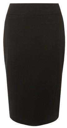 Dorothy Perkins Womens Black Textured Pencil Skirt, Black