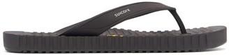 Suicoke Von Rubber Flip Flops - Black