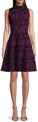 Floral Knit Flare Dress