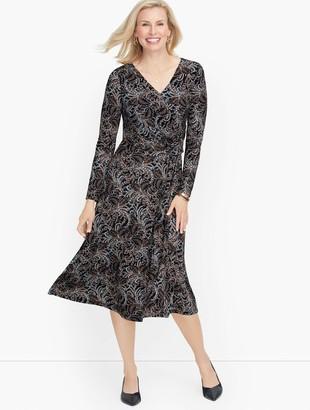 Talbots Jersey Fit & Flare Dress