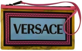 Versace Yellow Plastic Clutch bags