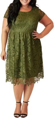 Maree Pour Toi Lace Fit & Flare Dress