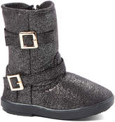 Shoe Box Trading Girls' Casual boots black - Black Double-Buckle Bootie - Girls
