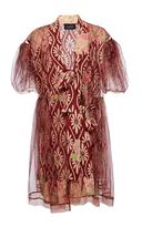 Simone Rocha Floral Tulle Bow Detail Dress