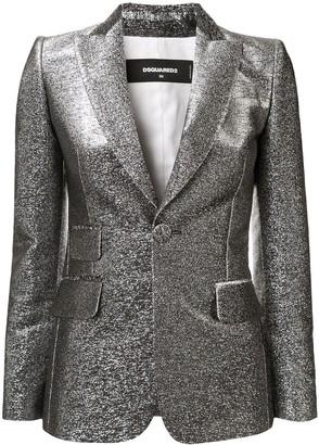 DSQUARED2 metallic threading fitted blazer