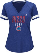 Majestic Women's Anthony Rizzo Royal Chicago Cubs Practice Success V-Notch T-Shirt