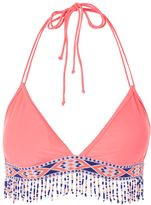 Jaded London **Pink Beaded Tassle Bikini Top