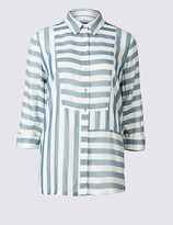 M&S Collection Modal Blend Striped Long Sleeve Shirt