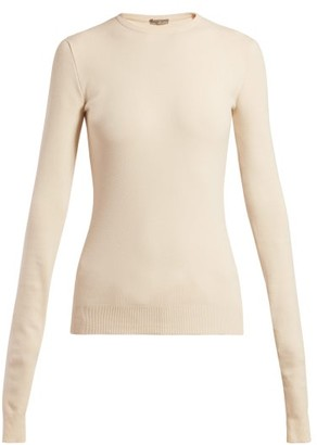 Bottega Veneta Intrecciato-tab Cashmere Sweater - Womens - Ivory