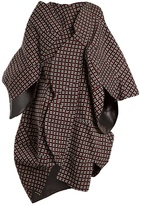 Junya Watanabe Geometric-weave sculptured wool coat