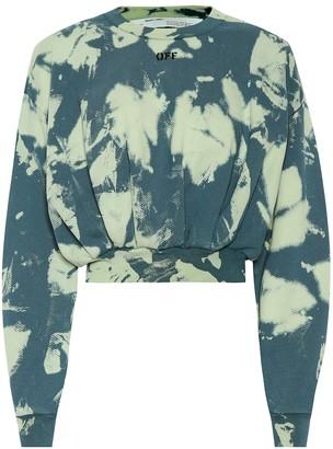 Off-White Off White Tie-dye printed cotton sweater