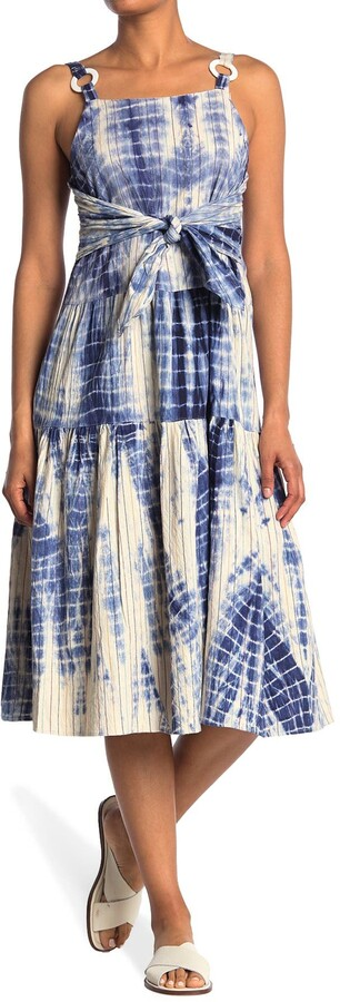 Thumbnail for your product : Angie Hardware Strap Tie Dye Print Midi Dress
