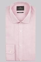 Moss Bros Premium Extra Slim Fit Pink Single Cuff Textured Dobby Shirt
