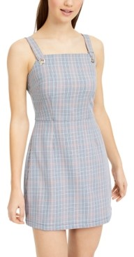 BeBop Juniors' Plaid Jumper Dress