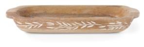 Lenox Textured Neutrals Oval Wood Dough Bowl