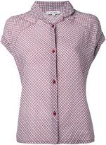 Caramel shortsleeved checked shirt - women - Cotton/Viscose - 8