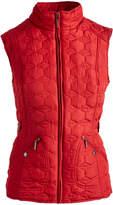 Weatherproof Red Geometric Puffer Vest