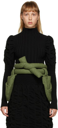 Paula Canovas Del Vas Green Wool Pocket Belt