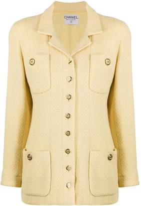 Chanel Pre Owned Buttoned Slim-Fit Jacket