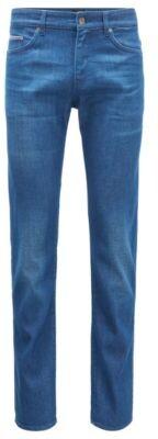 HUGO BOSS Slim-fit jeans in steel-blue Italian denim