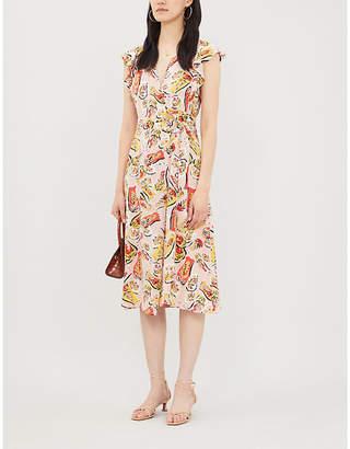 Claudie Pierlot Floral-print crepe midi dress