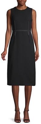 Marni Tonal Trim Sheath Dress