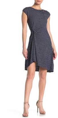 Max Studio Twist Front Cap Sleeve Dress
