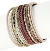 Saachi Braided Multi-Cord Genuine Leather Bracelet