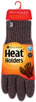 Heat Holders - Mens Thermal Heat Weaver Thick Cable Knit Soft Winter Gloves (Medium/Large, )