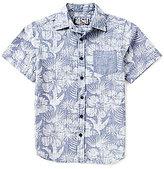 First Wave Big Boys 8-20 Short-Sleeve Printed Chambray Shirt