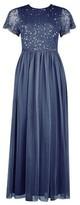 Dorothy Perkins Womens **Showcase Petite Dark Grey 'Tina' Maxi Dress, Grey