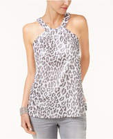 INC International Concepts Metallic Halter Top, Only at Macy's