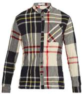 Jw Anderson Checked Crinkled Shirt