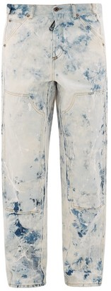 Off-White Reconstructed Paint-print Carpenter Jeans - White Multi
