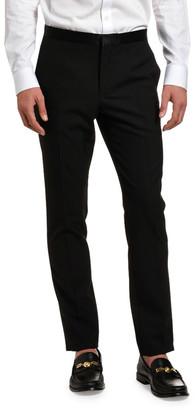 Versace Men's Solid Wool Tuxedo Pants