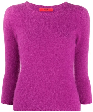 Roberto Collina 3/4 Sleeve Textured Sweater