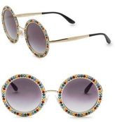 Dolce & Gabbana 51MM Crystal-Trim Round Sunglasses