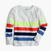 J.Crew Boys' long-sleeve quad-striped T-shirt