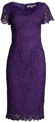 Trina Turk Wine Country Embroidery Sheath Dress