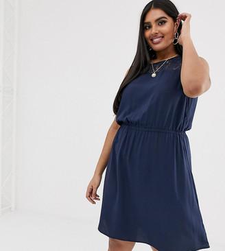 Vero Moda Curve lace insert mini dress