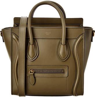 Celine Nano Luggage Leather Tote