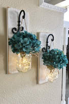 Etsy Set of Mason Jar Wall Sconces, Bedroom Wall Decor, Mason Jar Sconce, Mason Jar Decor, Mason Jar Wall