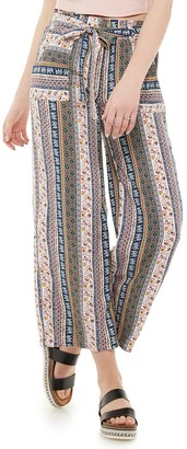 Juniors' Joe B Paperbag Wide Leg Pants